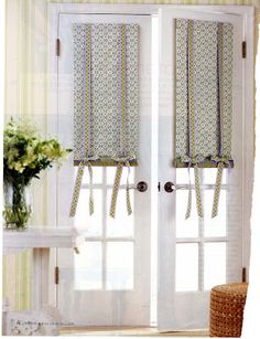 Diy door curtains to creative thriftiness diy roll up shades fabulous window treatments for french doors solutioingenieria Gallery