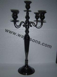 Source wholesale Black candelabras, table Black candelabra on m.alibaba.com
