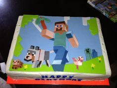 This Is A Cool Minecraft Cake