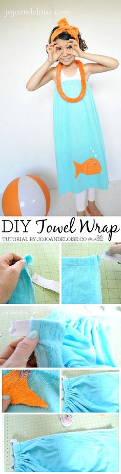 DIY Towel Wrap Tutorial by jojoaneloise.com Pin it NOW and make it later!