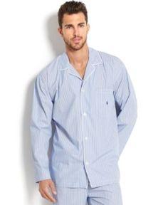 03f6b5f281 Big and Tall Blue Andrew Stripe Men s Pajama Top