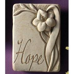 Cast Stone Expressions Collection Indoor Outdoor Gladiola Plaque Sculpture - Hope