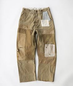 ANACHRONORM Reading Chino Cloth Wide Work Trousers [Damaged & Remaked]