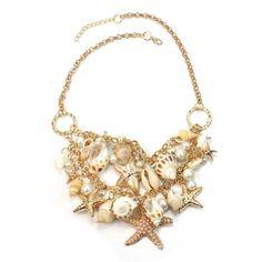 Fashion Sea Shell Starfish Faux Pearl Collar Bib Statement Chunky Necklace New ReFaXi http://www.amazon.com/dp/B00KATGS16/ref=cm_sw_r_pi_dp_F2zZub1WRC472