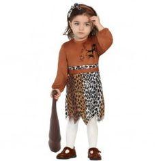 #Disfraz #Cavernícola Bebe Niña. #disfraces originales y #baratos para tus fiestas.