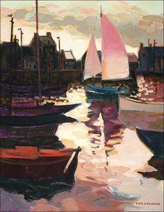 Alain A. Fournier - Voiliers au Port.