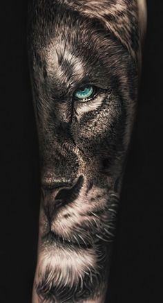 50 eye-catching lion tattoos that make you fancy ink - cool lion tattoo i . - 50 eye-catching lion tattoos that make you fancy ink – cool lion tattoo ideas © tattoo artist Da - Hand Tattoos, Lion Forearm Tattoos, Lion Head Tattoos, Mens Lion Tattoo, Leo Tattoos, Tattoos For Guys, Lion And Lioness Tattoo, Tatoos, Animal Sleeve Tattoo