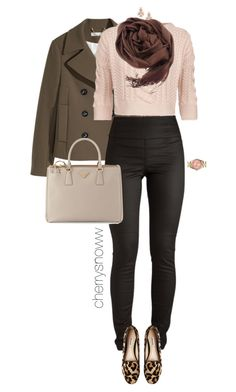"""""""Casual chic early fall outfit"""" by cherrysnoww ❤ liked on Polyvore featuring H&M, Pieces, Weekend Max Mara, Kate Spade, CO, Dune, MICHAEL Michael Kors and Prada"""