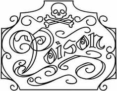 Poison Apothecary Label | Urban Threads: Unique and Awesome Embroidery Designs
