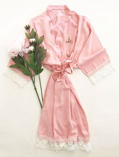 Check out the deal on Monogram Cotton Lace Robes at Wedding Favorites | Unique Wedding Favors | Baby Shower Favors | Bridal Shower Favors