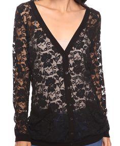 Black lace cardigan  #lace #cardigan #black