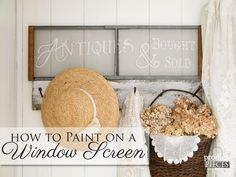 Create your own repurposed decor by using a window screen to create art. Come see how easy it is to paint on a window screen with this DIY tutorial.