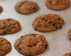 chia seeds, almond butter, choc chip cookies