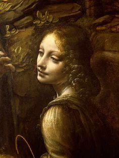 Leonardo da Vinci - Detail of The Virgin of the Rocks  detail of the angel, c.1508 - jetzt bestellen auf kunst-fuer-alle.de