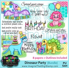 Value deal!! You get 4 complete sets including Outline versions + digitally colored + Digi papers & sentiments!