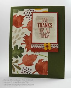 A wonderful assortment of cards featuring For All Things and Color Me Autumn dsp. All supplies from Stampin' Up!