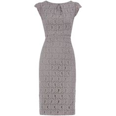 Petite grey lace pencil dress (570 ARS) ❤ liked on Polyvore featuring dresses, pencil dress, zipper dress, gray dress, lace dress and lacy dress