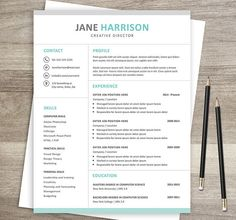 Letter Template Word Unique Hexagonal Resume  Cover Letter Word Template Landscape Format .