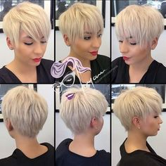 blonde+choppy+pixie