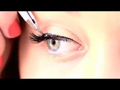 Ever wonder how to apply those little clusters of lashes? This is a good tutorial.