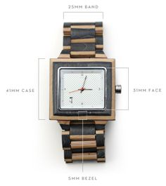 "Wood Watch | ""The Slab"" Water Resistant Powered by Motion by Slim Timber — Kickstarter"