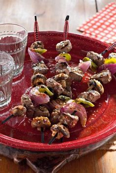 Steak Kabobs with Peppers, Onions and Mushrooms — Jamie and Bobby Deen — Recipes, Blogs, Podcast and Videos