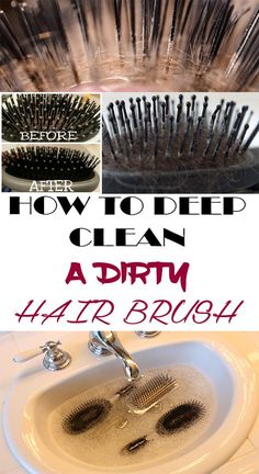 See how to properly clean your hair brush to prevent scalp diseases! House Cleaning Tips, Deep Cleaning, Cleaning Hacks, Cleaning Solutions, Hacks Diy, Spring Cleaning, Cleaning Supplies, Grand Menage, Natural Remedies