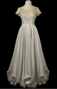 1955 Wedding Gown~ The Frock, via Anjou