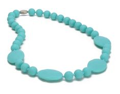 Chewbeads Perry Teething Necklace - Turquoise