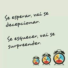 Esperar  Decepcionar Esquecer  Surpreender  Surpresa