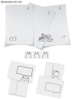 Kitty Stationery-set with Writing Paper, Envelopes and Stickers for Snailmail (printable) https://www.etsy.com/listing/115026073/kitty-stationery-set-with-writing-paper