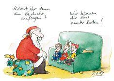 Peter Gaymann Postkarte Gedicht aufsagen