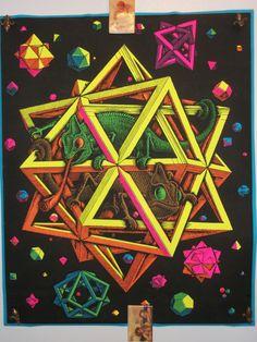 SALE Rare Blacklight Stars 1968 Original by KathysCornerShop