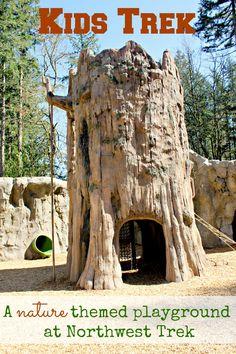 Kids Trek at Northwest Trek is a new, nature-themed playground at Northwest Trek Wildlife Park near Mt Rainier, WA. It is ADA accessible & fun for all ages.