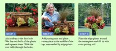 Side Planting Baskets - Pamela Crawford Side Planting Containers  http://www.gardencrossings.com/Garden-Supplies