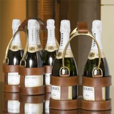 NEED this. Then need to throw a party for the next big horse race. Equestrian-inspired champagne bottle holders!
