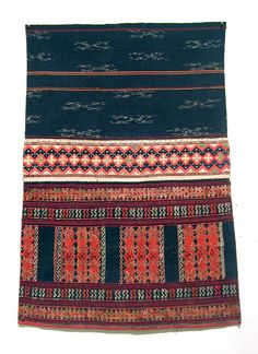 Chinese Textiles  Run Li Skirt, Hainan  Early 20th century  Embroidered cotton