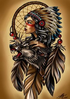 Tattoo ФШ - tattoo's photo In the style Linework, Gir Native American Drawing, Native American Tattoos, Native Tattoos, Native American Girls, Native American Paintings, Native American Pictures, Native American Beauty, American Indian Art, Indian Girl Tattoos