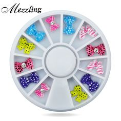 Rein Bow Rhinestone for Acrylic Nail Art Tips Decoration,10mm Flat Back DIY Beauty Charms Nail Accessories Tools #Affiliate