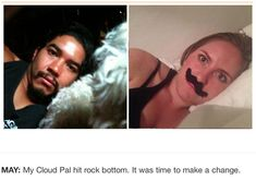 une femme imite les selfies de l homme qui detient son telephone portable 5   Une femme imite les selfies de lhomme qui a son portable   vol...