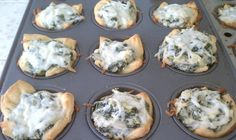 Spinach Artichoke Bites - Easy appetizer using crescent rolls.