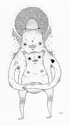 New Drawingsssss by Cosmic Nuggets, via Behance  -Really cool work!!