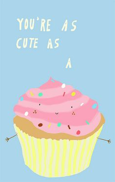 . Corny Puns, Food Puns, Old Soul, Unique Cards, Canvas Wall Art, Bff, Cupcake, Spirit, Healthy