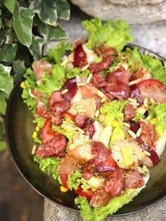 Landaise salad (the real one!) - Marmiton cooking recipe: a recipe - Tom Recipes Healthy Salads, Healthy Eating, Healthy Recipes, Carne Asada, Salty Foods, Salad Bar, Summer Recipes, Food Inspiration, Salad Recipes