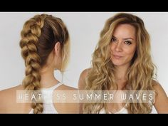 Heatless Summer Waves Hair Tutorial | Dutch Braid Hair Tutorial | Shonagh Scott | ShowMe MakeUp - YouTube