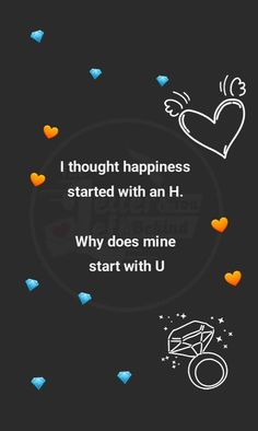 Here's the truth, happiness starts with H for Hafsa not with u Girly Quotes, Sad Quotes, Miss The Old You, Silence Quotes, Good Night Greetings, Love Facts, Qoutes About Love, Sad Wallpaper, Broken Heart Quotes