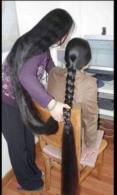 Long Hair Ponytail, Braids For Long Hair, Long Black Hair, Long Hair Cuts, Long Indian Hair, Extreme Hair, Natural Hair Styles, Long Hair Styles, Super Long Hair