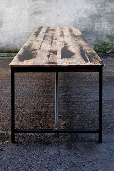 Extra Long Reclaimed Timber Dining Table Industrial Style With Metal Legs And Victorian Floorboard Top