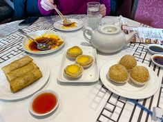 Eat Dim Sum in Chinatown was on my life list. We ate all the dumplings at Cai in Chicago for a birthday breakfast. Top Chef Winners, Fried Spring Rolls, Veggie Fried Rice, Scallion Pancakes, Birthday Breakfast, Chicago Travel, Life List, Spicy Sauce, Kitchens