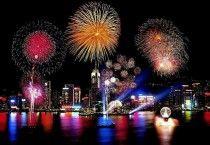 Animated Fireworks Background